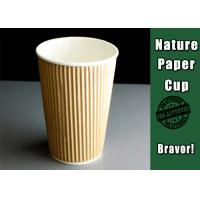 China 16 Oz Hot Drink Disposable Take Away Cups Insulated With Accurate Printing wholesale
