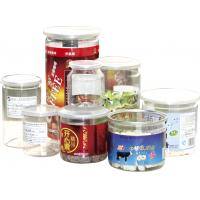 China 500ml ODM Labeling Clear Plastic Cylinder Food Grade Canned Tubes wholesale