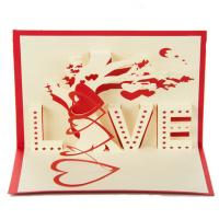 China Recycling Happy Valentines Day Card Custom Gift Card Printing Eco Friendly on sale
