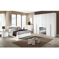 China White High Gloss Bedroom Furniture Sets 6 Door Mirrored Wardrobe Acid Resistant wholesale
