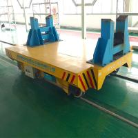 China Battery rail material transfer flat car for steel factory with high quality wholesale