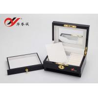 China Beautiful Color Handmade Wooden Jewelry Box With Drawers / Lock Color Customized wholesale