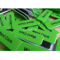 China 76mm x 25mm PVC Plastic Name Badges With Epoxy Dome Resin Finish wholesale