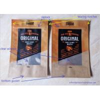 Laminated Brown Craft Paper Bags With Transparent Window In Front For Snack Food Manufactures