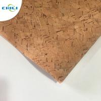 China Non Woven Cork Leather Fabric Durable Contemporary Printed Natural Color wholesale