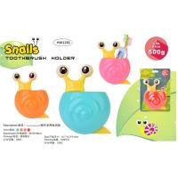 China TOOTHBRUSH & TOOTHPASTE HOLDER - SNAIL DESIGN (4 ASSORTED COLORS) wholesale