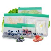 China Reusable PEVA Standing Bag for Food Storage and Milk,FDA Reusable Standing Storage Bag,Easy to Seal and Leakproof wholesale