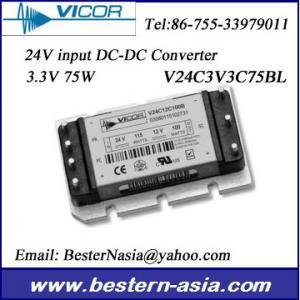 China Vicor Power Supply 24Vin to 3.3V 75W DC-DC Converter: V24C3V3C75BL wholesale