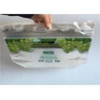 China Laminated Zip Lock Fresh Fruit Bags Clear Plastic With Handle Custom Printed wholesale