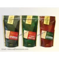 China Customized Plastic Ziplock Bags for Coffee , Stand up Printed Coffee Bag wholesale