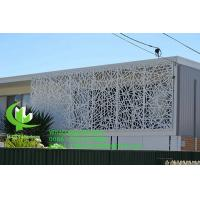 China Carving Aluminum Sheet Fence Various Design Laser Cutting   Balcony Facade Window Supply wholesale