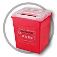 China 8 Litre Sharps disposal container, Sliding Lid, Red,Sharps Container  | WinnerCare wholesale