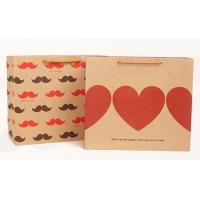 China Luxury Elegant Garment Gift Brown Carrier Paper Bags With Handles wholesale