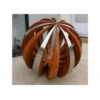 Buy cheap Outdoor Decor Stainless Steel And Corten Steel Ball Sculpture from wholesalers