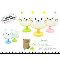 China TABLE MIRROR - CAT DESIGN - 4 ASSORTED COLORS (BLUE / GREEN / YELLOW / PINK) wholesale