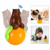 China Pet Tumbler Toy music tumbler toy shaking around pet bear funny tumbler dog cat toys wholesale