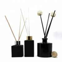Buy cheap Black Brussel Glass Perfume Bottles With Printing Home Decoration from wholesalers