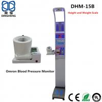 China Digital Bmi Height Weight Machine , Blood Pressure Calculator Machine Coin Operated Weighing Scale wholesale