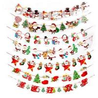 China Pull the rope of flag  colorful flag,Christmas decorations,The festive scene layout paper hanging flags on sale