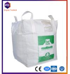 China fibc bag 300kg-2000kg , ton bag coated woven polypropylene bags fibc for animal feed wholesale