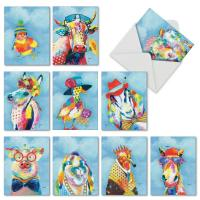 China Cartoon Animal Custom Made Greeting Cards Lovely Color Printing Cover For Children on sale