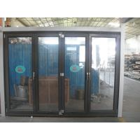 1.8mm profile thickness aluminum bifold doors with wood grain surface treament Manufactures
