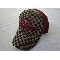China Custom Embroidered Sports Mens Baseball Caps With Metal Buckle wholesale