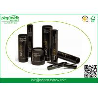 Quality Black Custom Cardboard Tubes , Paper Cylinder Containers For Eyelash Packaging for sale