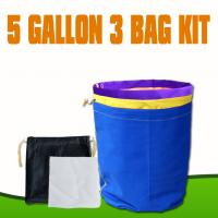 China Hydroponics Nylon 5 Gallon 3 Bag Set Bubble Hash Bags with Extended Mesh Sidewall wholesale
