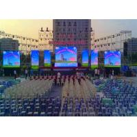 China Full Color Led Wall Screen Display Outdoor , Led Video Wall Panels 10mm Dot Pitch wholesale