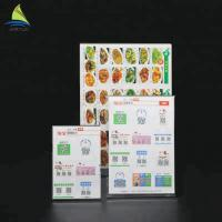 China Customized Clear Acrylic Slanted Design menu holder acrylic Sign wholesale