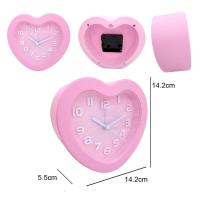 China 3D Glass Crystal Heart Shape Desk Clock For Home Decoration wholesale