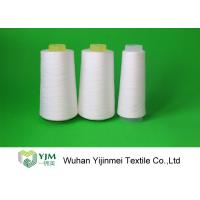 China High Tenacity Bright Ring Spun Polyester Sewing Thread Yarn On Cones 20s/3 Raw White Color wholesale