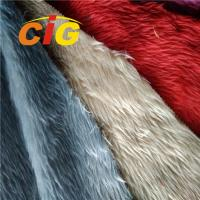 Buy cheap Fashion 100% Polyester Colorful Artificial Fur For Car Seat Cover / Home Textile from wholesalers