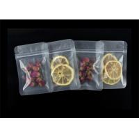 China Moisture Proof Custom Food Packaging Bags , Matte Or Transparent Three Side Seal Zipper Plastic Bags wholesale