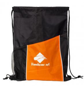China New Hot Selling Polyester Drawstring Bag with Pocket-HAD14022 wholesale