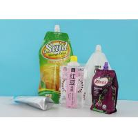China Laminated Stand Up Barrier Pouches With 22mm Spout Caps For Laundry Detergent Liquid Package wholesale