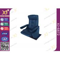 China Real Leather Rocking Back Cinema Theater Chairs Fixed Floor Chair With Cup Holder for Musical Hall wholesale