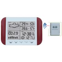 China 433MHz RF RCC Wireless Weather Station with Digital Alarm Clock Barometer Indoor Outdoor Temperature Humidity MS6145D wholesale