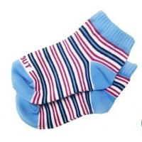 Quality Custom Eco-friendly Striped Colorfull Knityed Anti-Skid Socks with Organic Cotton for Baby for sale