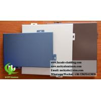 Quality Architectural facade system Aluminium wall clad panels powder coated exterior for sale