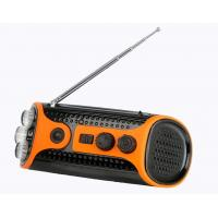 China Crank Dynamo Led Flashlight Torches With Fm / Am Radio, Rechargeable Battery, Speaker on sale