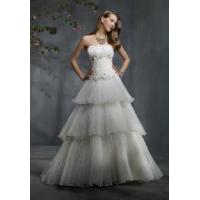 China a-Line Strapless Bridal Gown wholesale