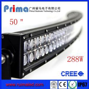 "China 50"" 288W Curved Led Light Bar- Double Row wholesale"