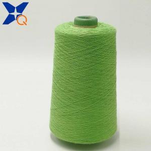 China fluorescent green  Ne21/2plies 10% metal fiber  90% polyester staple fiber for knitting touch screen gloves-XT11761 wholesale