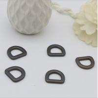 China New style matte gun metal color flat meat d ring buckle 12 mm for bags wholesale