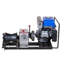 China Gas Powered Winch Portable Cable Pulling Machine Capacity 1 Ton Cbale Winch wholesale