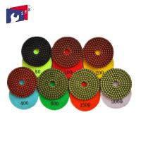 China 100mm Granite Diamond Polishing Pads 80 - 220 Mm For Buffing Marble Concrete wholesale