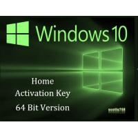 China 32 Bit / 64 Bit Windows 10 Home Key Code USB Activation With Lifetime Guarantee wholesale