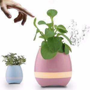 China smart flower pot Bluetooth speaker smart flower pot mini speaker music flower pot for Office wholesale